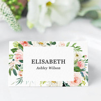Wedding place cards template editable PDF, Name place cards, Table cards for wedding, bridal shower, Rehearsal dinner place cards printable
