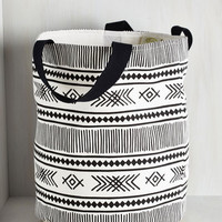 Boho Crosshatch a Plan Laundry Bag by ModCloth