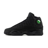 NIKE Air Jordan 13 Black Cat Basketball Shoes Breathable Height Increasing Footwear Super Light Sneakers