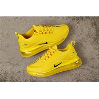 Nike Air Max 720 Yellow With Black Logo Running Shoes