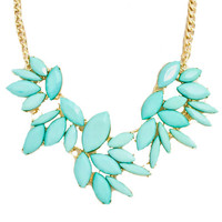 Magnificent Mint Statement Necklace