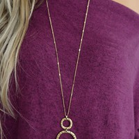 Along The Way Necklace: Black/Gold