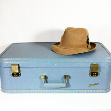 Vintage Starline / Baltimore Luggage Co. Hard Sided Suitcase