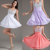 Lady's Mini Short Cocktail Evening Dress Party Formal Bridesmaid Prom Ball Gown
