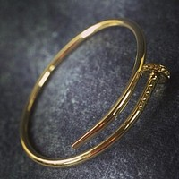 Cartier exquisite fashion personality nail bracelet F Gold