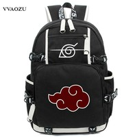 Naruto Sasauke ninja New Arrival Cartoon  Backpack Anime Akatsuki Sharingan Printing Cosplay School Backpacks Laptop Shoulder Bags AT_81_8