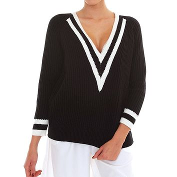 Playdate Sweater Top - Black