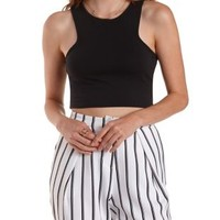 Racer Front Cropped Tank Top by Charlotte Russe