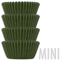 Mini Olive Green Baking Cups