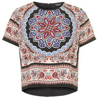 Scarf Print Placement Tee - Multi
