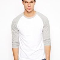 ASOS Long Sleeve T-Shirt With Contrast Raglan Sleeves