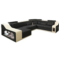 Royal Bright Luxury Leather Sectional Sofa