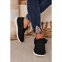 IMPERFECT Arial Sherpa Knit Sneaker (Black)