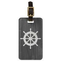 Nautical Helm Luggage Tag