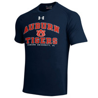 Auburn Tigers School Mascot Tech T-Shirt – Navy Blue
