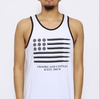 Crooks & Castles, Ammo Flag Tank Top - White - Tank Tops - MOOSE Limited