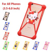 Silicone 3D Cartoon Rubber Phone Case Cover Accessory