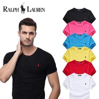 New Ralph Lauren Big Size Mens Shirt Sleeve T shirt 100% COTTON TOP 6 Colors