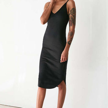 Sparkle & Fade Ribbed Knit Bodycon Midi Slip Dress - Urban Outfitters