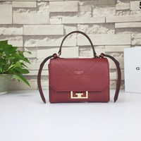 Kuyou Gb99822 Givenchy Eden Bag In Burgundy Smooth Leather With Flap 20x12.5x6cm