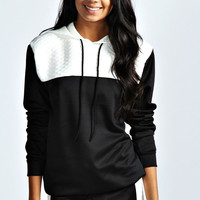 Charlene Contrast Quilted Hoody