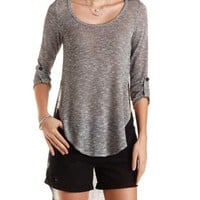 High-Low Rounded Hem Pullover by Charlotte Russe