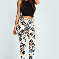 Millie Aztec Cropped Trousers