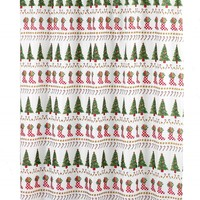 Christmas Time Holiday Fabric Shower Curtain
