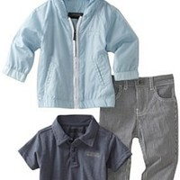 Kenneth Cole Baby Boys' Kc 3 Piece Long Pant and Hoodie Set