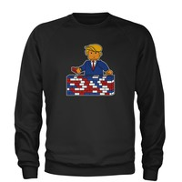 Trump Build The Wall Brick Toys Adult Crewneck Sweatshirt
