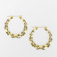 Hullabaloo X Urban Renewal Bamboo Doorknocker Earring - Urban Outfitters