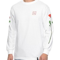 HUF Roses White Long Sleeve T-Shirt