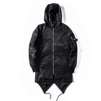 ANDIMOTO Black Prism Extended Bomber Jacket With Face Mask