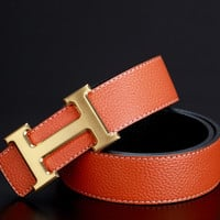 Hermes Woman Men Fashion Buckle Leather Belt