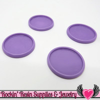 Lavender 1 inch Round Cameo Settings 25mm Resin Bezel 10 pieces