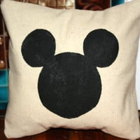 Mickey Mouse Ears Pillow, Customize and Personalize, 12, 14, 16 and 18 inch Sizes