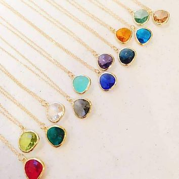 Yellow Gold Colorful Druzy Necklaces