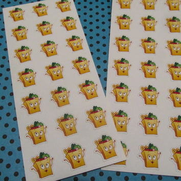 21 Grocery bag stickers, Shopping, Erin Condren, Filo Fax, Planner, Plum Paper, Groceries, Store, Food