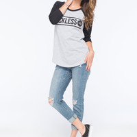 YOUNG & RECKLESS Bar Circle Womens Baseball Tee | Raglans & L/S Tees