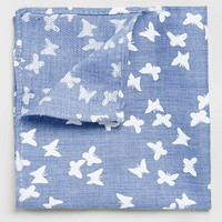 Blue Butterfly Pocket Square - Suits - Shop All Sale HIDDEN