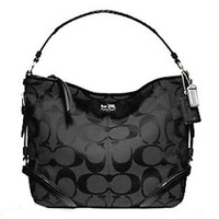 Coach Signature Chelsea Katarina Shoulder Hobo Bag Purse 18903 Black