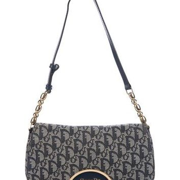 Leather-Trimmed Diorissimo Bag