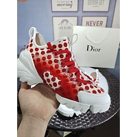 Dior Women Casual Shoes Boots fashionable casual leather Women Heels Sandal Shoes-26