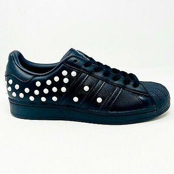Adidas Originals Superstar Studded White Spikes Black Womens Size 9 FV3343