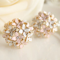 Four Leaf Flower Stud Earrings