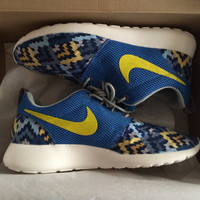 Custom Roshe Run Blue ZigZag