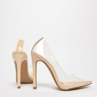 Public Desire Extra clear pumps at asos.com
