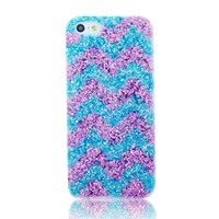 Wave Pattern Sparkling Handmade Case For iPhone 4/4s