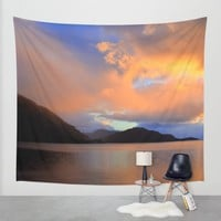 Sunset Wall Tapestry by Haroulita | Society6