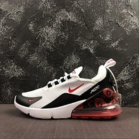 Nike Air Max 270 Blooming Floral White/ Black/ Red Running Shoes